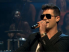 "Robin Thicke ""Blurred Lines (Live On Jimmy Fallon)"" Video"