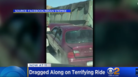 Dump Truck Drags Wedged Car For Over 4 Miles On Freeway