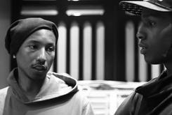 BTS Photos: Pharrell In The Studio With A$AP Rocky