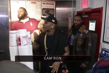 Cam'ron Takes Over A Five Guys Restaurant In NYC