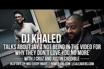 """DJ Khaled Explains Jay Z's Absence In """"They Don't Love You No More"""" Video"""