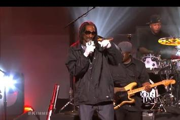"Snoop Dogg & Dam-Funk Perform ""Faden Away"" On Jimmy Kimmel"