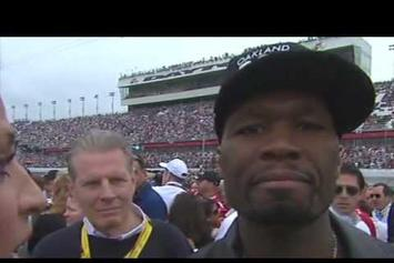 50 Cent Tries To Kiss Erin Andrews At Daytona 500