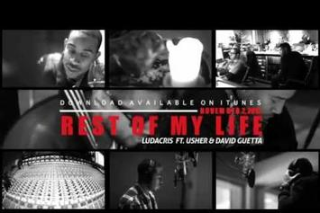 "Ludacris Feat. Usher & David Guetta ""Recording ""Rest Of My Life"""" Video"