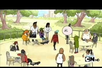 "Tyler, The Creator Feat. Childish Gambino ""Regular Show- Rap It Up"" Video"