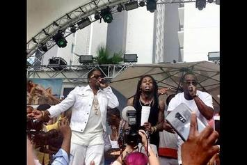 """Diddy, Mase & Lil Wayne Perform """"Mo Money, Mo Problems"""" In Vegas"""