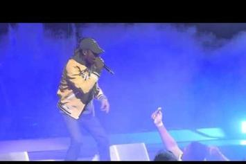 """Travis Scott Falls Off Stage While Performing """"Antidote"""" In Philadelphia"""