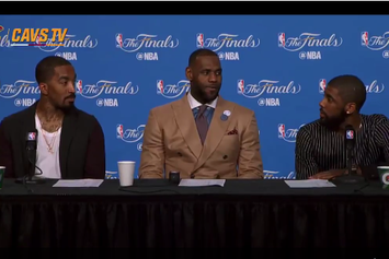 LeBron, JR And Kyrie Hilariously React To A Reporters Ridiculous Question