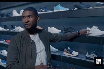 Usher Goes Sneaker Shopping At KITH In NYC