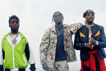 "Lil Uzi Vert, Quavo & Travis Scott ""Go Off"" Video"