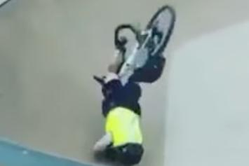 Cops Crashes Bike, Eats Sh*t At Skate Park