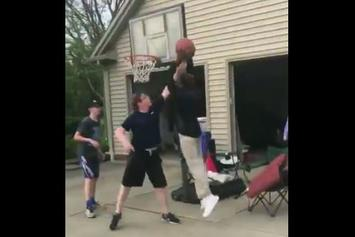 Watch: LeBron James' Son Dunks On Kid During Pick-Up Game.