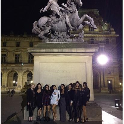 Kim K and girlfriends wander Paris streets at night for the bachelorette party