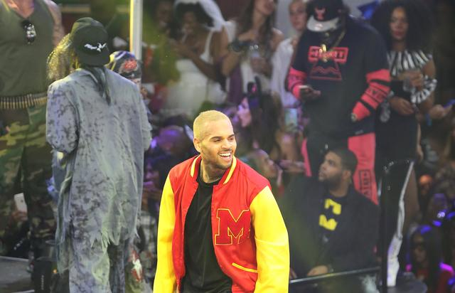 Chris Brown at Drai's Nightclub for Halloween