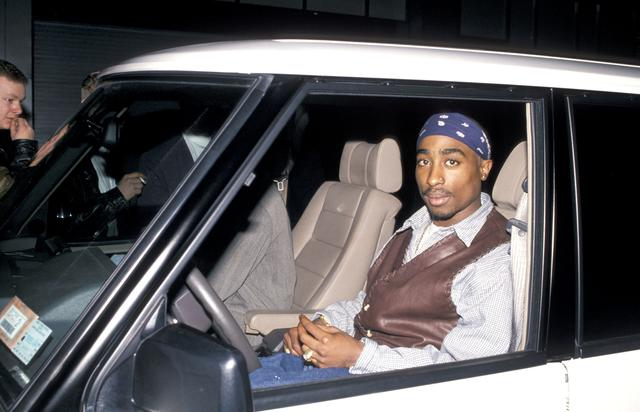 Tupac Shakur during Party For Cowboy Noir Thriller 'Red Rock West' at Club USA in New York City, New York, United States. (Photo by Ron Galella/WireImage)