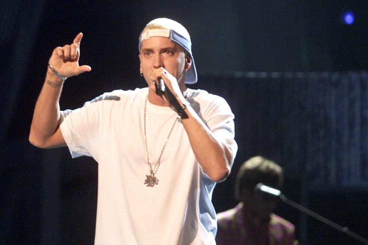 Eminem performing at the 2001 Grammys