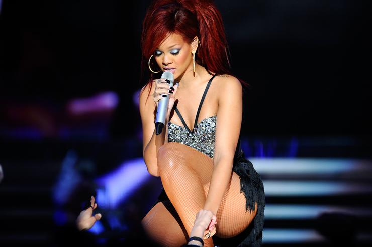 Singer Rihanna performs during the 2011 NBA All-Star game halftime show at Staples Center on February 20, 2011 in Los Angeles, California.