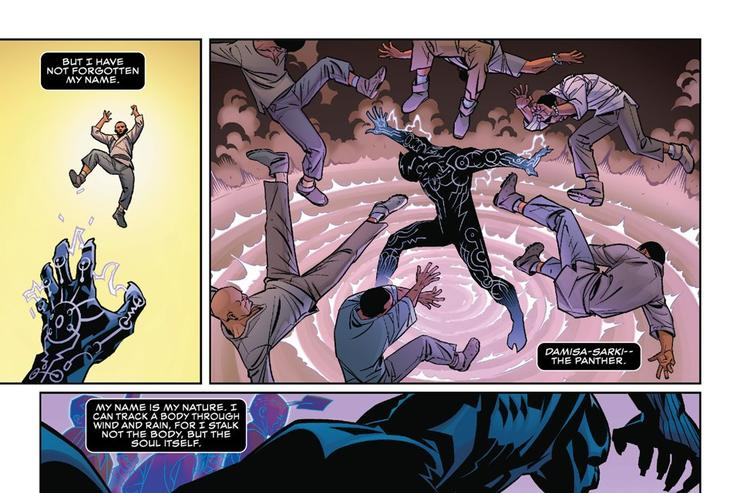 """Panels excerpted from """"Black Panther #1"""""""