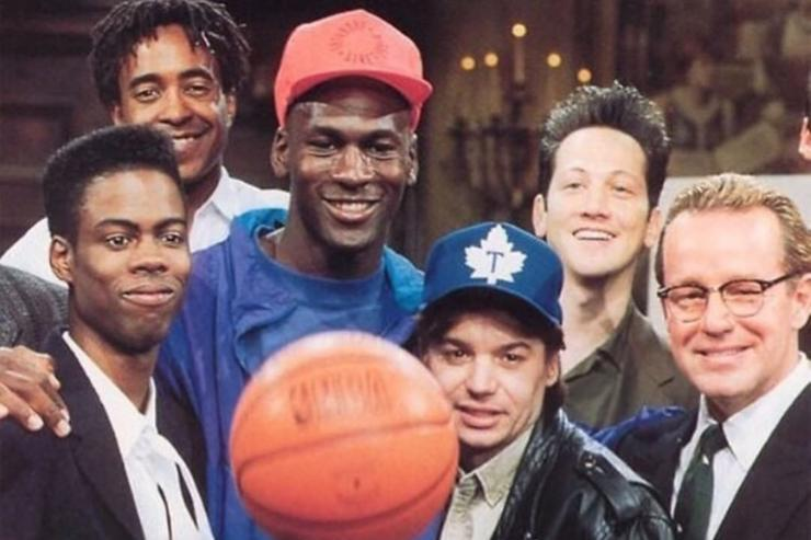 Chris Rock Michael Jordan Mike Myers SNL