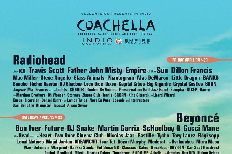 The lineup for Coachehella 2017.