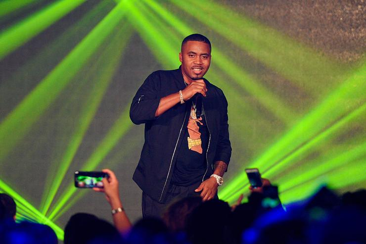 Nas performs at Hennessy V.S Limited Edition by Scott Campbell Bottle Launch event at MAMA Gallery on July 14, 2016 in Los Angeles, California.