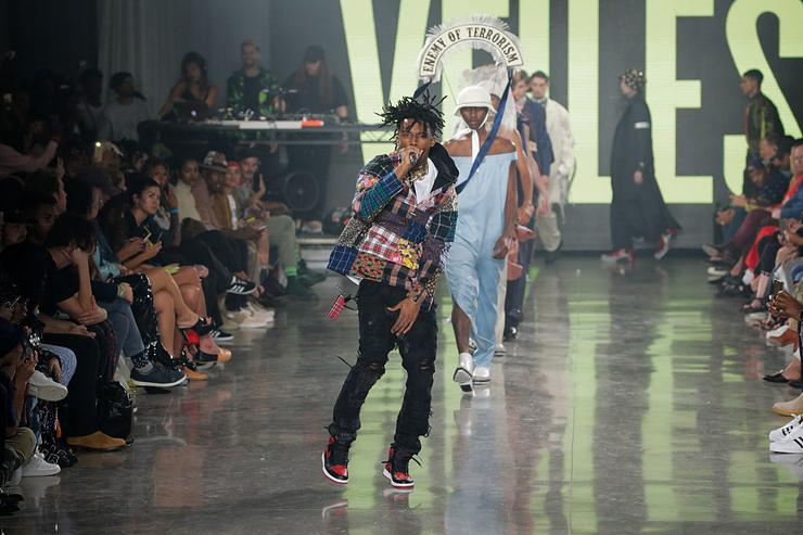 Playboi Carti performs at the VFILES fashion show during New York Fashion Week 2016 at Spring Studios on September 7, 2016 in New York City.