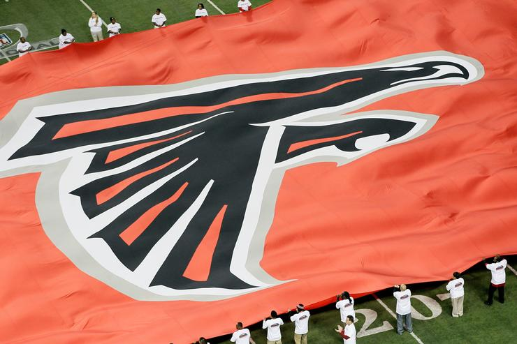 Atlanta Falcons flag during NFC championship game.