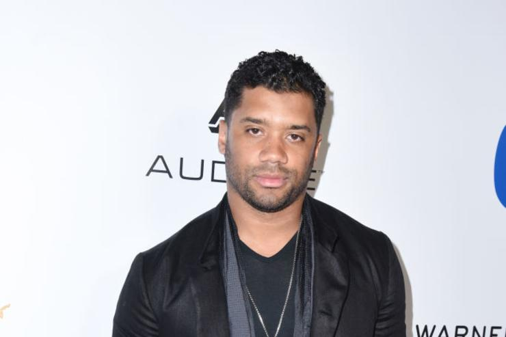 NFL player Russell Wilson attends the Warner Music Group GRAMMY Party at Milk Studios on February 12, 2017 in Hollywood, California.