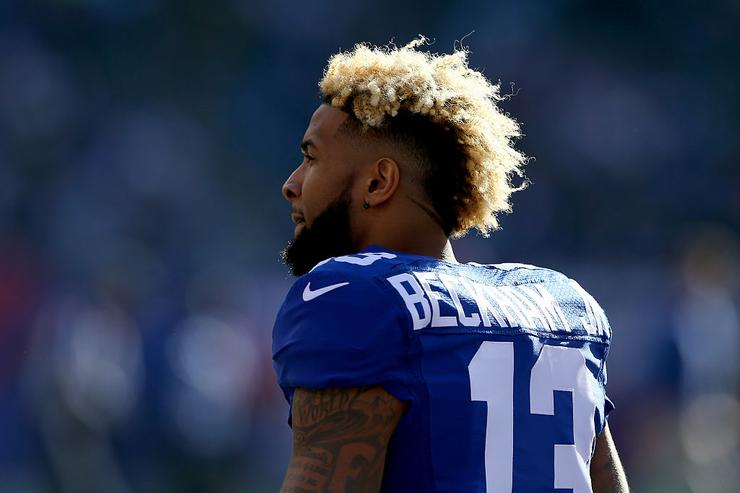 Odell Beckham, Jr. during their game at MetLife Stadium on January 3, 2016 in East Rutherford, New Jersey.