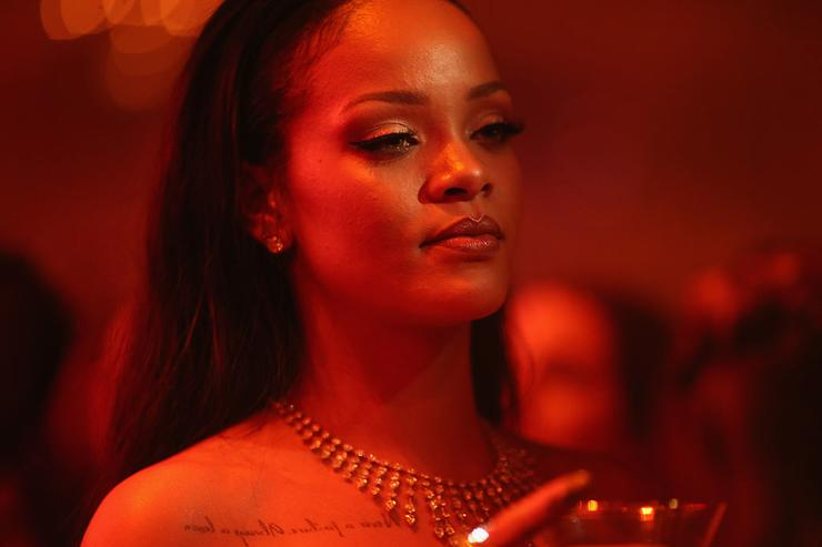 Rihanna performs onstage at the 2nd Annual Diamond Ball hosted by Rihanna and The Clara Lionel Foundation at The Barker Hanger on December 10, 2015 in Santa Monica, California.