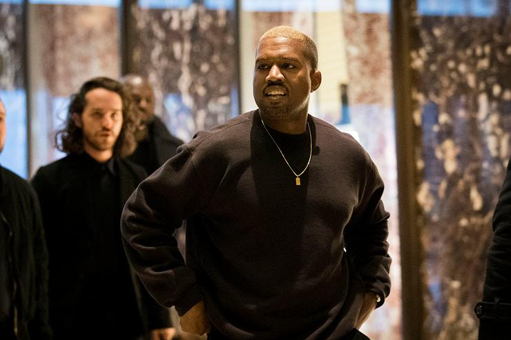 Kanye West arrives at Trump Tower, December 13, 2016 in New York City.