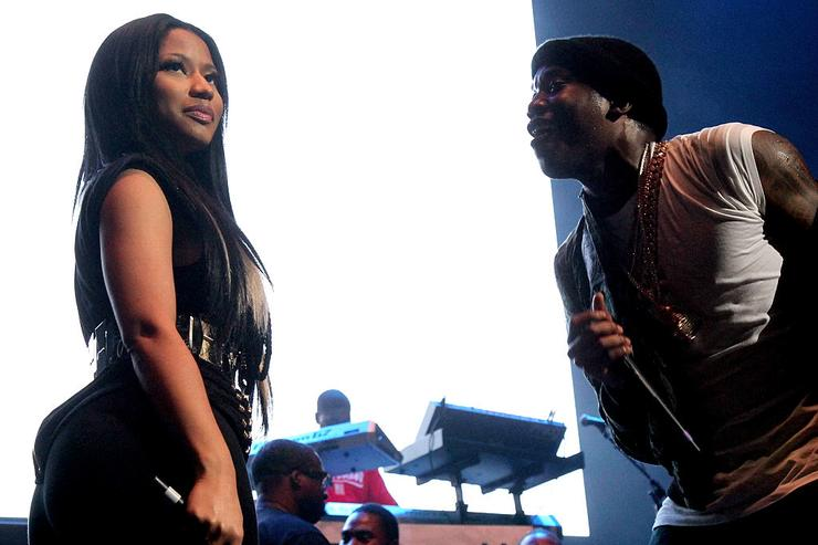 Nicki Minaj and Meek Mill perform onstage during 105.1's Powerhouse 2015 at the Barclays Center on October 22, 2015 in Brooklyn, NY.