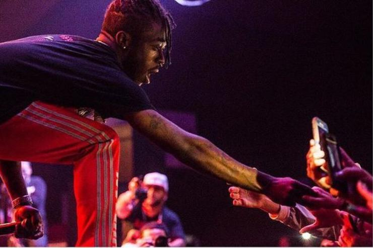 Lil Uzi Vert connects with his fans onstage.
