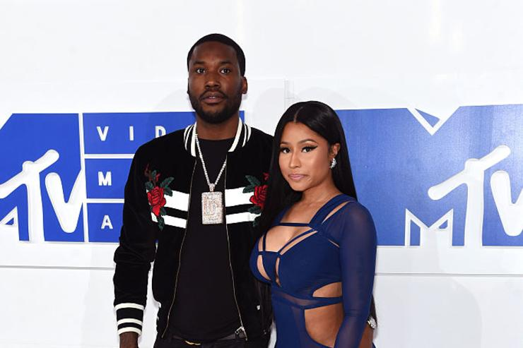 Nicki Minaj and Meek Mill attend the 2016 MTV Video Music Awards at Madison Square Garden on August 28, 2016 in New York City.