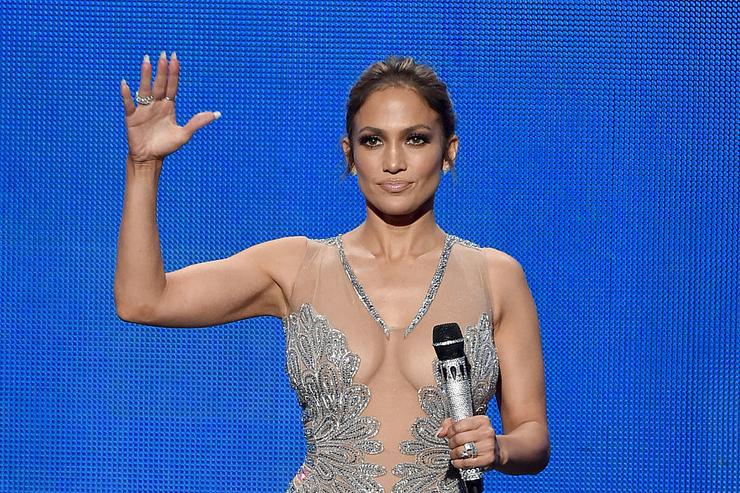Jennifer Lopez speaks onstage during the 2015 American Music Awards at Microsoft Theater on November 22, 2015 in Los Angeles, California.