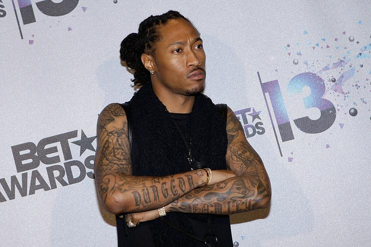Future poses in the Backstage Winner's Room at Nokia Theatre L.A. Live on June 30, 2013 in Los Angeles, California.