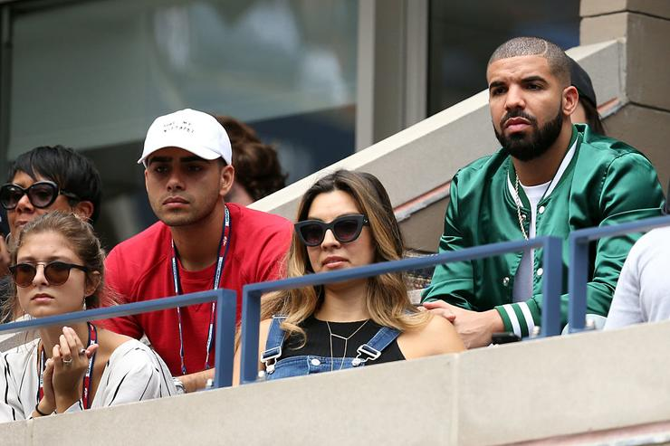 Drake attends the Women's Singles Semifinals match between Roberta Vinci of Italy and Serena Williams of the United States on Day Twelve of the 2015 US Open at the USTA Billie Jean King National Tennis Center on September 11, 2015 in the Flushing neighborhood of the Queens borough of New York City.