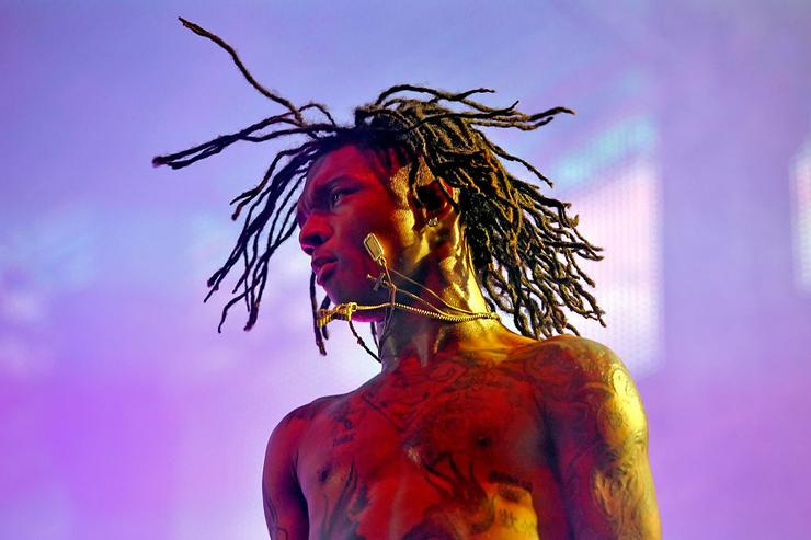 Swae Lee of Rae Sremmurd performs onstage during day 1 of the 2016 Coachella Valley Music & Arts Festival Weekend 2 at the Empire Polo Club on April 22, 2016 in Indio, California.