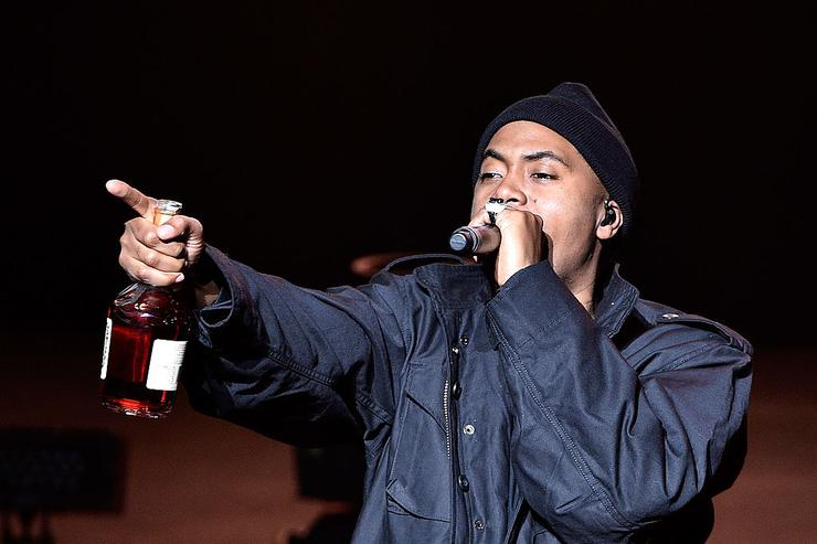 Nas performs onstage at the Opening Night Concert during the 2014 Tribeca Film Festival at The Beacon Theatre on April 16, 2014 in New York City.